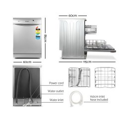 60cm Freestanding Dishwasher - 12 Place Setting