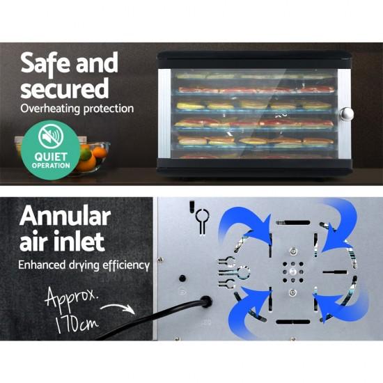 6 Trays Commercial Food Dehydrator Fruit Dryer
