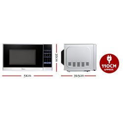 Midea 20L 700W Electric Digital Microwave Oven Kitchen Silver