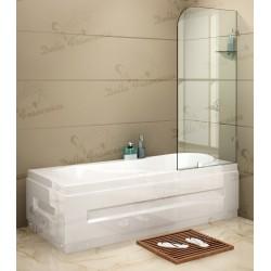 700 x 1450mm Frameless Bath Panel 10mm Glass Shower Screen By Della Francesca