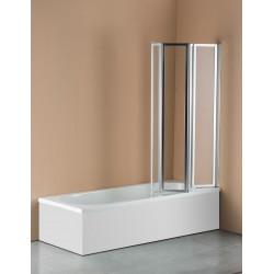 4 Fold Chrome Folding Bath Shower Screen Door Panel 1000 x 1400mm