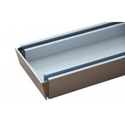 2000mm Aluminium Rust Proof Tile Insert Strip Shower Grate Drain Indoor Outdoor