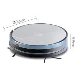 4 Mode Robotic Vacuum Cleaner - Silver & Blue