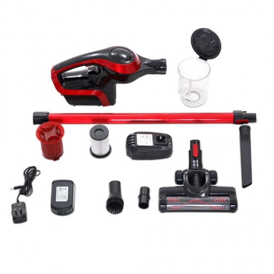 Cordless Stick Vacuum Cleaner - Black & Red