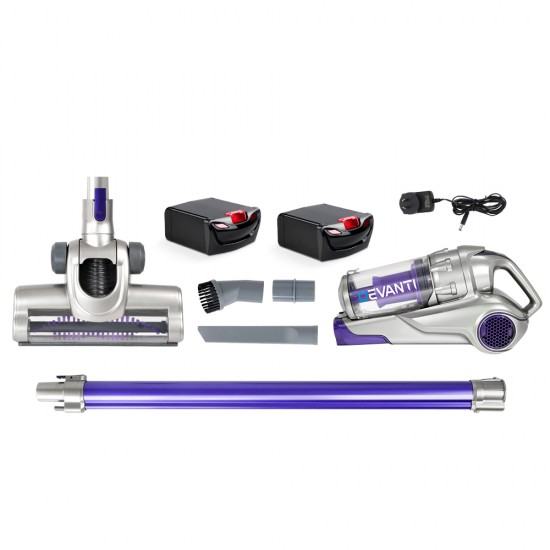 120W Handstick Bagless Cordless Vacuum Cleaner Purple Grey with Spare Battery