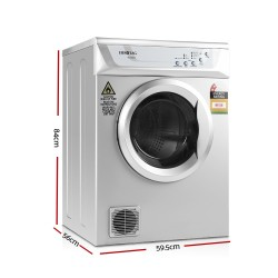 6kg Tumble Dryer Silver