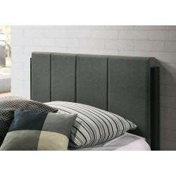 Fabric Upholstered Bed Frame in Charcoal - Double