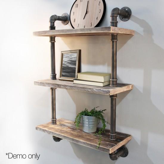 Artiss Industrial Shelves DIY Pipe Shelf Display Wall Floating Bookshelf Vintage 3 Tiers