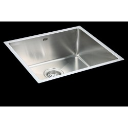 490x440mm Handmade Stainless Steel Undermount / Topmount Kitchen Laundry Sink with Waste