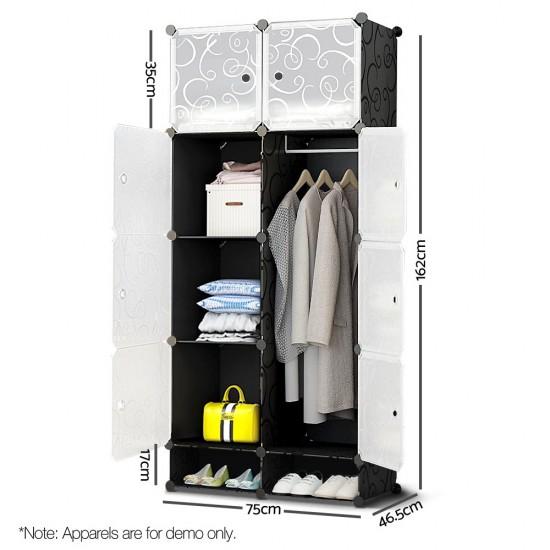 10 Cube DIY Storage Cabinet Wardrobe