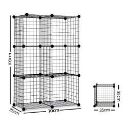 6 Cube Mesh Wire Storage Cabinet