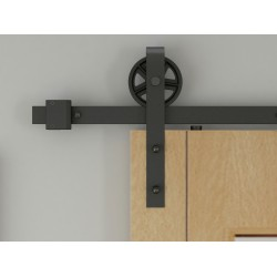 2M Big Spoke Wheel Sliding Barn Door Hardware