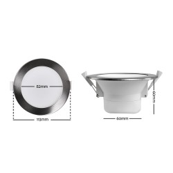 6 x LUMEY LED Downlight Kit Ceiling Light Bathroom Kitchen Daylight White 12W