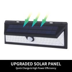 2X 54LED Solar Powered PIR Motion Sensor Outdoor Garden Security Wall Light