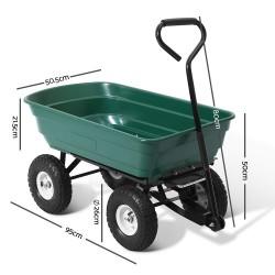 Gardeon 75L Garden Dump Cart - Green