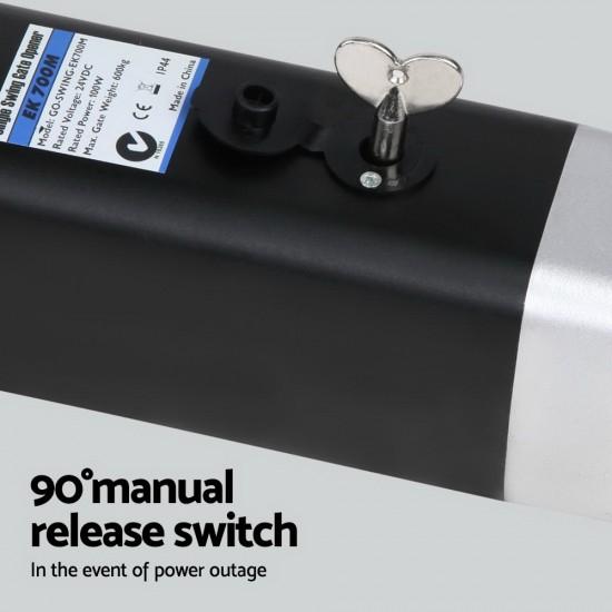 LockMaster Swing Gate Opener Auto Double Full Remote Control 1200KG