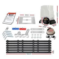 LockMaster Electric Sliding Gate Opener 1800KG With Keypad Remote 6M Rail