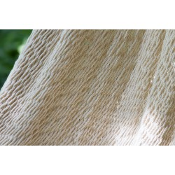 Deluxe Outdoor Cotton Mexican Hammock  in Cream  Colour