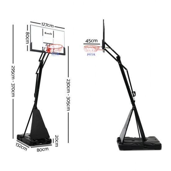 Everfit 3.05M Adjustable Portable Basketball Stand Hoop System Rim