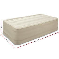 Bestway Inflatable Single Air Bed Home Blow Up Mattress Built-in Pump