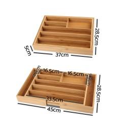 Artiss Bamboo Cutlery Tray