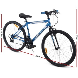 Huffy 26inch Granite Mountain Bike Unisex Mens Womens City Bicycle 15-Speed Blue