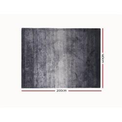 Artiss 140x200cm Luxury Shaggy Rug Gradual Color Anti-slip Carpet Black