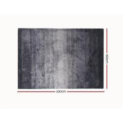 Artiss 160x230cm Luxury Shaggy Rug Gradual Color Anti-slip Carpet Black