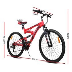 Huffy 26inch DS-3 Mountain Bike Suspension Unisex Mens Womens Bicycle Shimano 18-speed