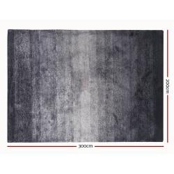 Artiss 200x300cm Luxury Shaggy Rug Gradual Color Anti-slip Carpet Black