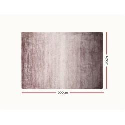 Artiss 140x200cm Luxury Shaggy Rug Gradual Color Anti-slip Carpet Sand