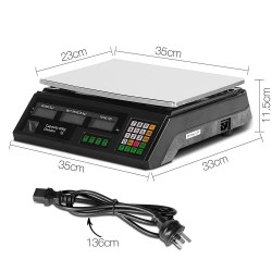 Giantz Electronic Digital Weight Scales - Black