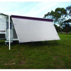 3.4m Caravan Privacy Screen Side Sunscreen Sun Shade for 12' Roll Out Awning