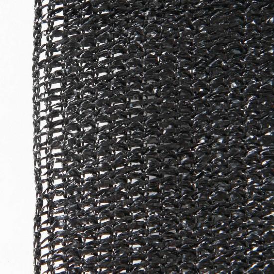 Instahut 50% UV Sun Shade Cloth Shadecloth Sail Roll Mesh Garden Outdoor 1.83x50m Black