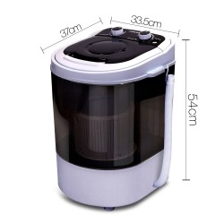 4KG Mini Portable Washing Machine - Black