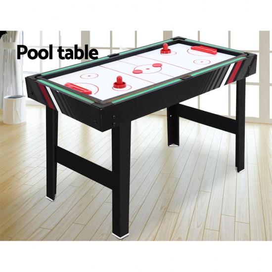 4FT 4-In-1 Soccer Table Tennis Ice Hockey Pool Game Football Foosball Kids Adult