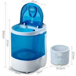 4KG Mini Portable Washing Machine - Blue