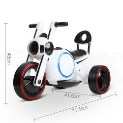 Rigo Kids Ride On Motorbike Motorcycle Car Toys White
