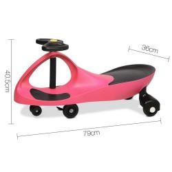 Keezi Kids Ride On Swing Car  - Pink