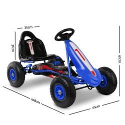 Rigo Kids Pedal Powered Go Kart - Blue
