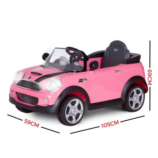 Avigo Kid's Licensed Pink Mini Cooper S Electric Ride on Car 6V battery