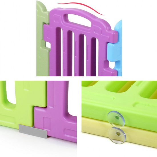 Cuddly Baby 17-Panel Plastic Baby Playpen Kids Toddler Fence