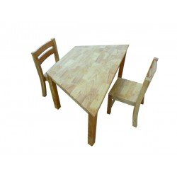 Trapezoidal Table 120 Rubber Wood