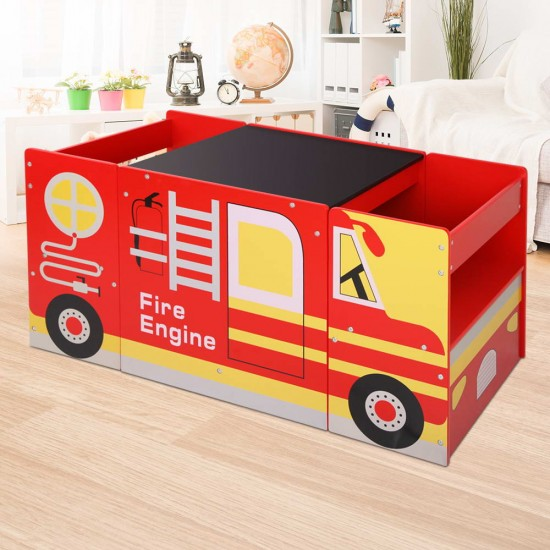 Keezi Kids Fire Truck Table & Chair Set