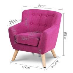 Artiss Kids Fabric Accent Armchair - Pink