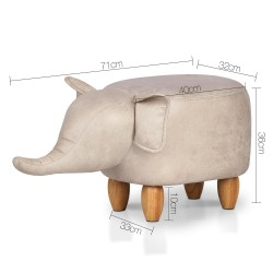 Artiss Kids Elephant Animal Stool - Beige
