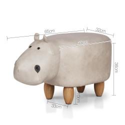 Artiss Kids Hippo Animal Stool - Beige