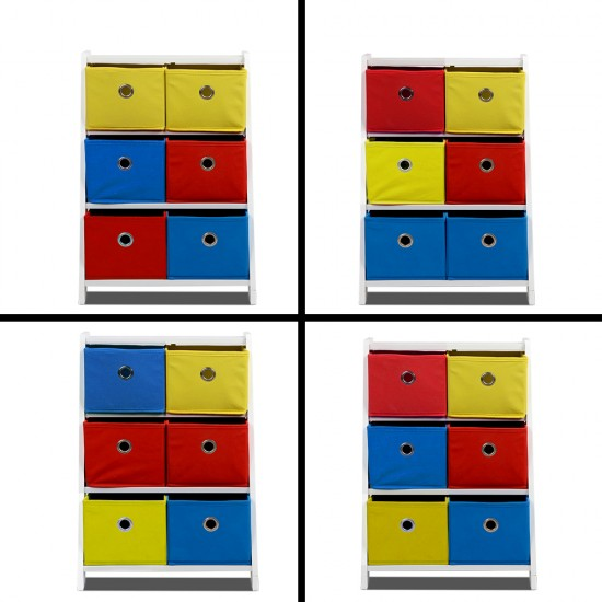 Removable Fabric Multi-bin Toy Box