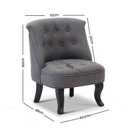 Artiss Kids Lorraine Chair - Grey