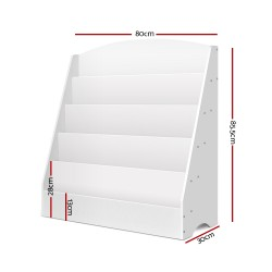 Artiss 5 Tier Kids Bookshelf - White